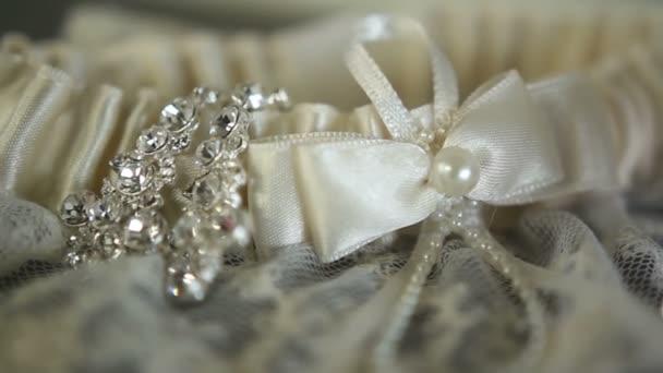 Esküvői ruha harisnyakötő makró