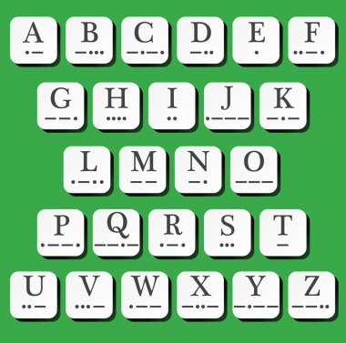 Alphabet with morse code