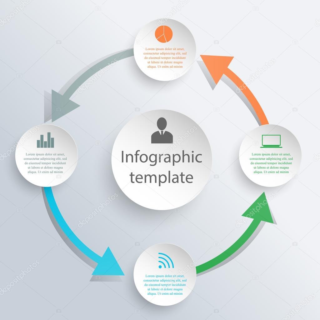 Infografik Kreisschablone — Stockvektor © Petersenurecoff.gmail.com ...