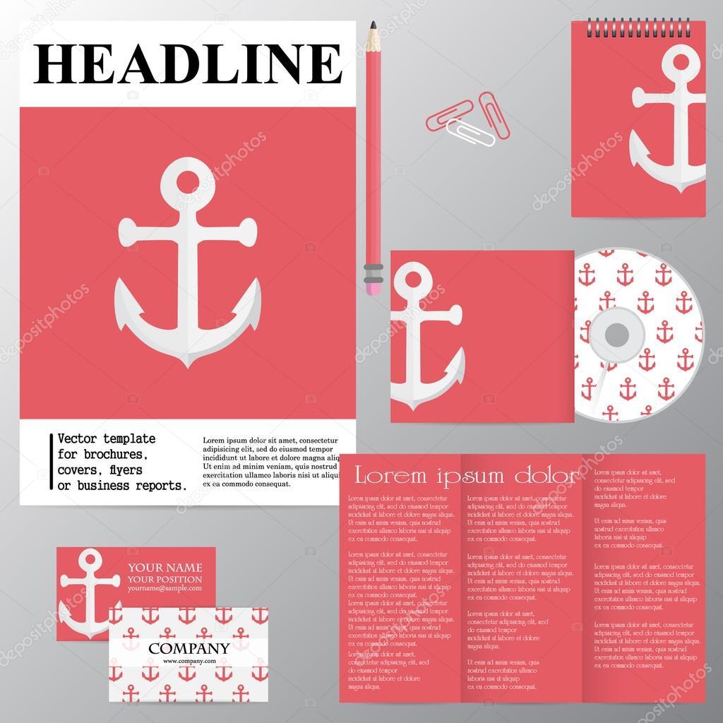 Plantilla de vector de folletos, portadas, folletos o informe de ...
