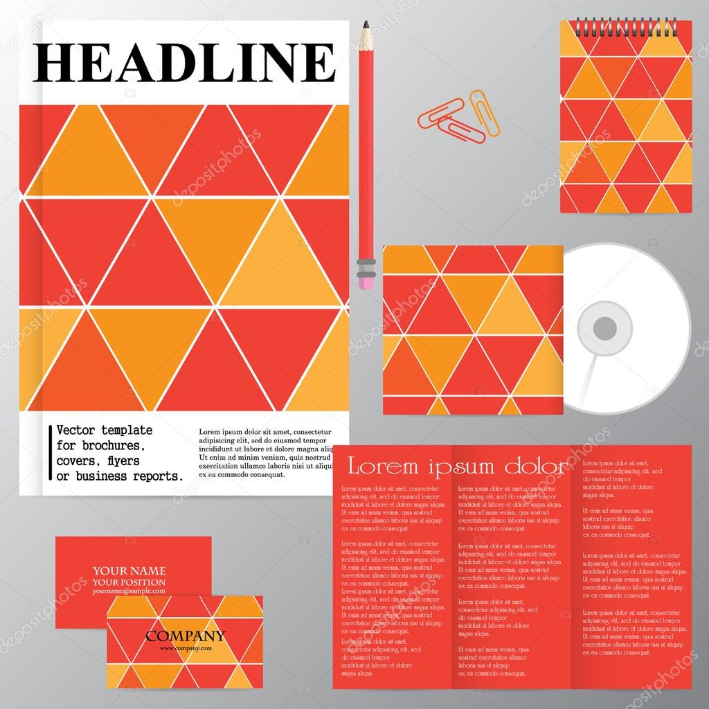 Vektor-Vorlage für Broschüren, Cover, Flyer oder Geschäftsbericht ...