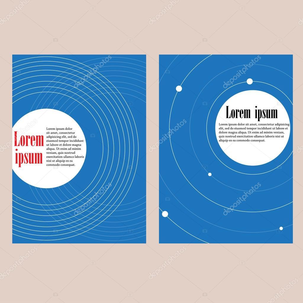 Conjunto de 2 vectores plantillas para folletos, volantes o ...