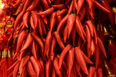 Traditional Chinese red peppers decorations