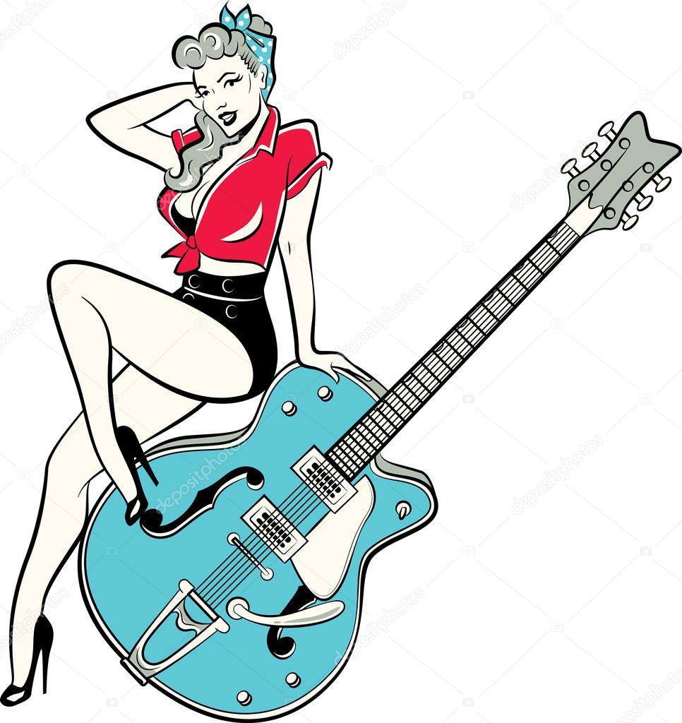 pin up rockabilly dessin