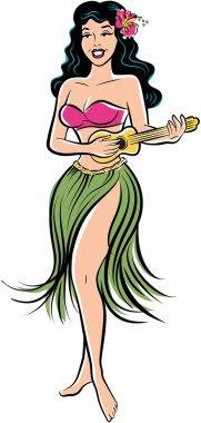 Hula Girl with Ukelele