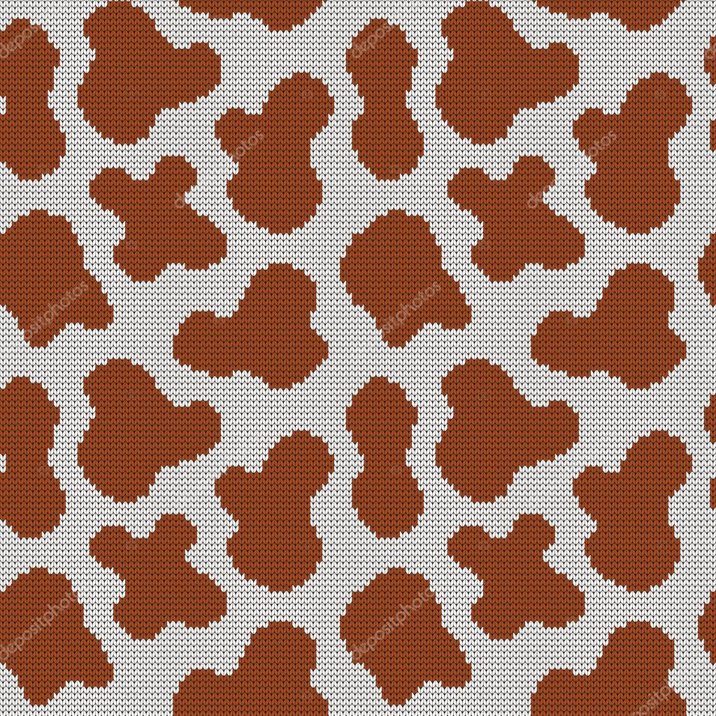 Knitted seamless pattern cow spots — Stock Vector © galagalina19 ...