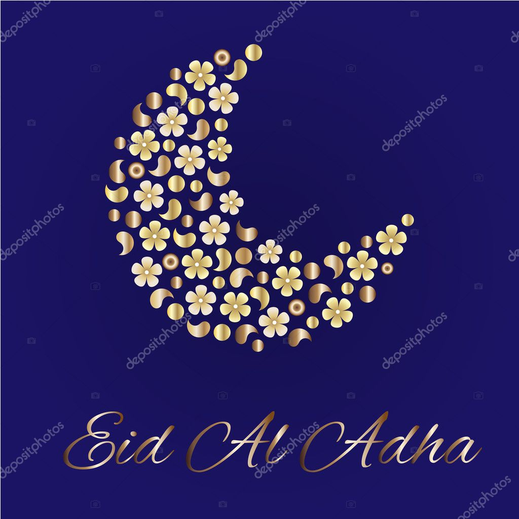 Greeting card for eid al adha stock vector redy redta eid greetings for arabic holiday an islamic greeting card for eid al adha vector by redy redta m4hsunfo
