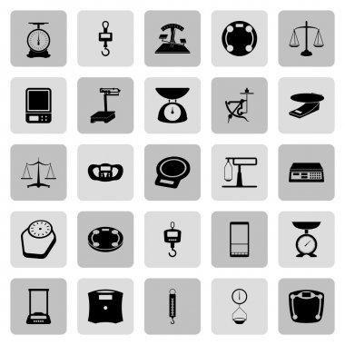 25 web icon set - scales, weighing, weight, balance clip art vector