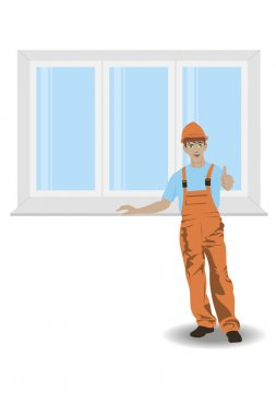 Worker with window