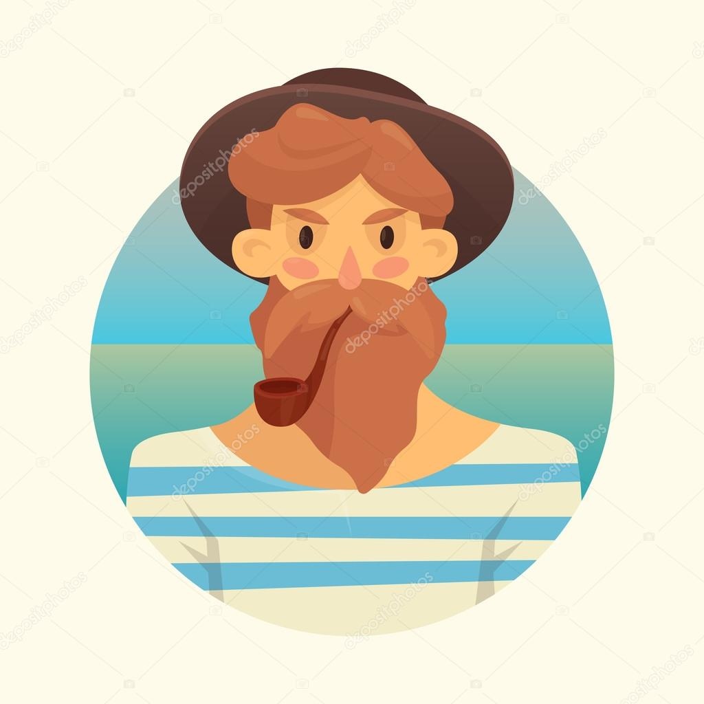 man with beard smoking pipe � stock vector 169 nordenwind
