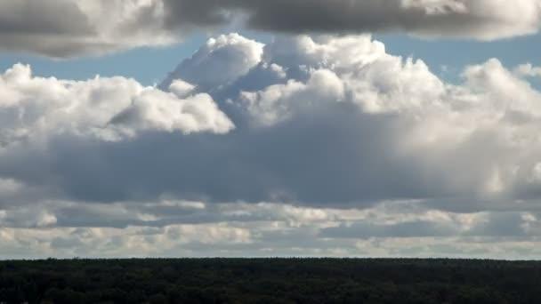 Déšť mraky nad timelapse