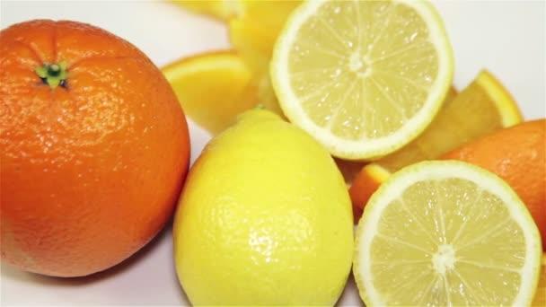 pomerančovníků a citronovníků rotace na stole, detail