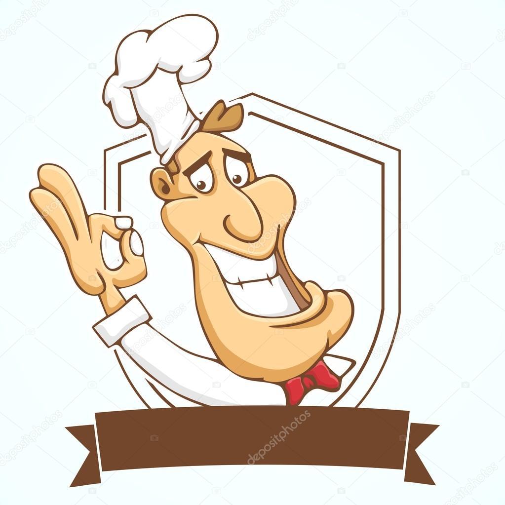Animado Logo De Chef Logo De Chef De Dibujos Animados
