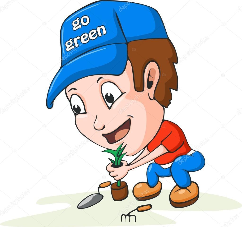 Dibujos animados de la jardiner a archivo im genes - Imagenes de jardineria ...
