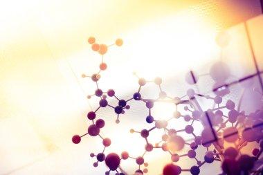Science Molecule, Molecular DNA Model Structure, business teamwork