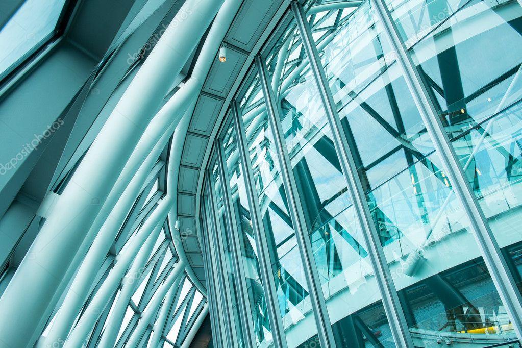 Intérieur du verre au bureau d affaires financières skyscra de
