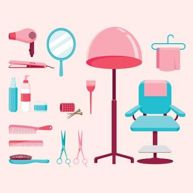 Hair salon equipments set