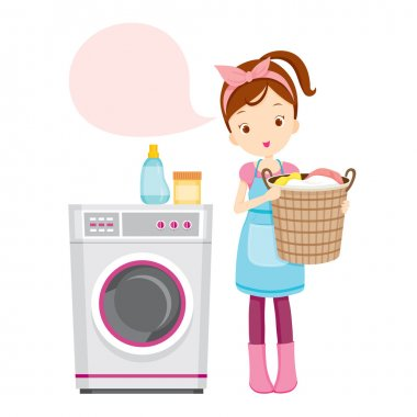 Girl With Washing Machine