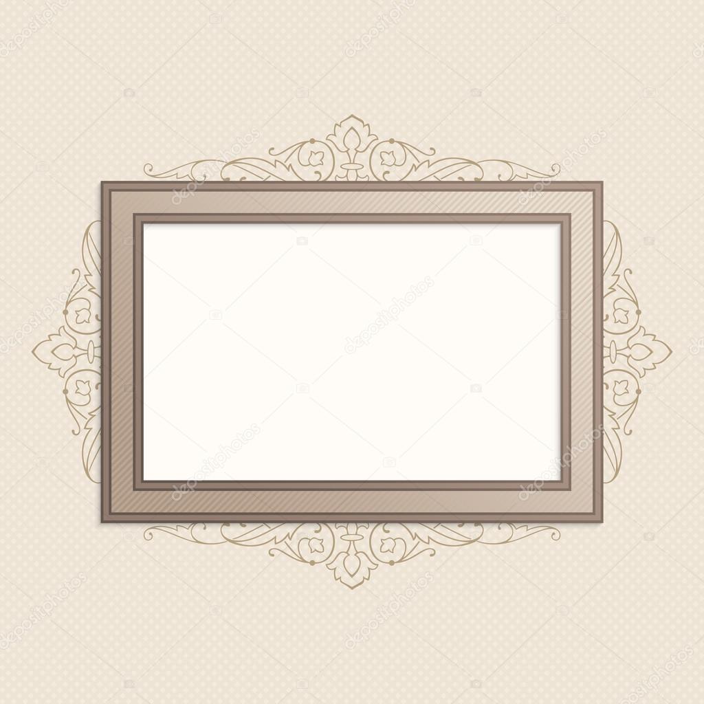 Horizontal vintage frame.
