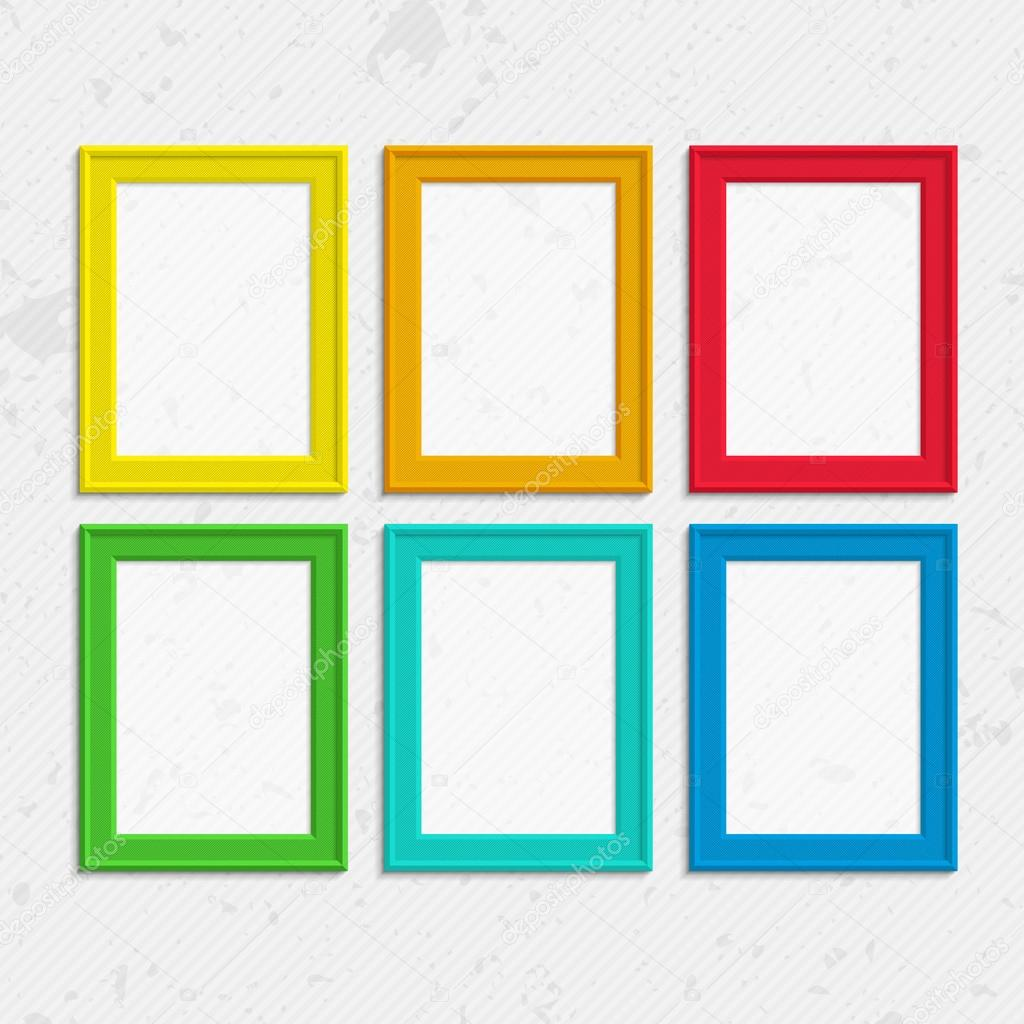Colorful photo frames — Stock Vector © art-sonik #116317724