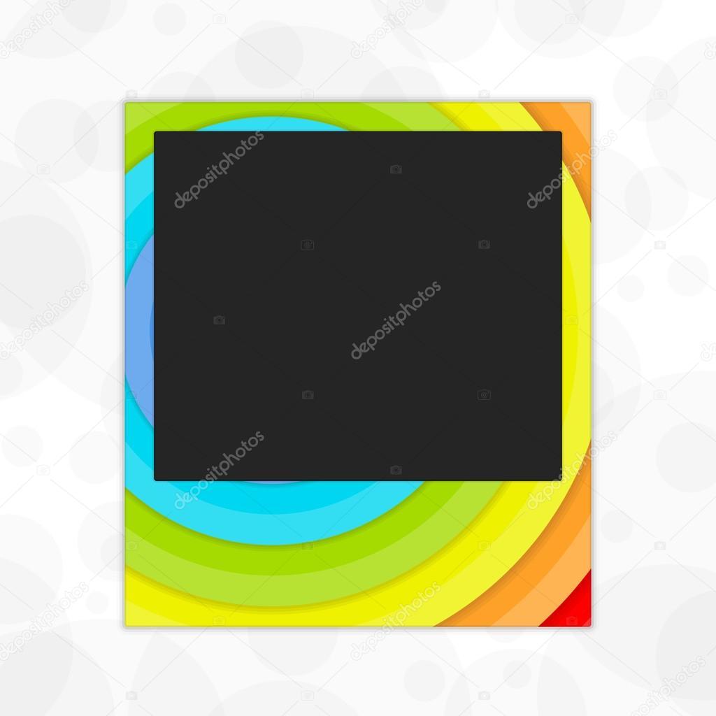 Polaroid photo frame rainbow — Stockvektor © art-sonik #116319096