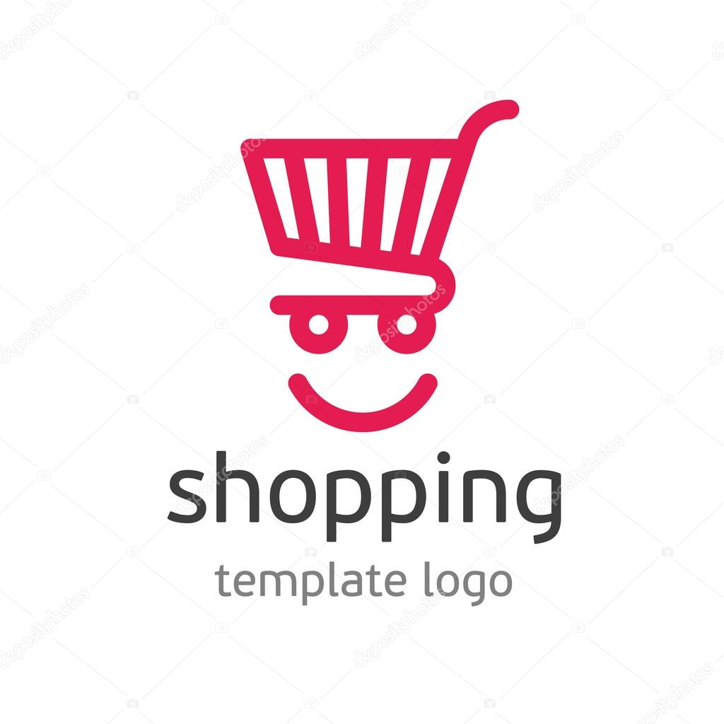 shopping template logo stock vector art sonik 116319706