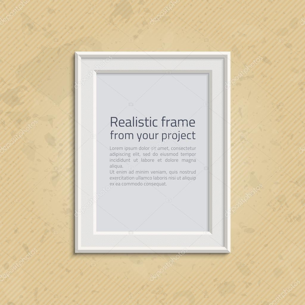 Picture frame with text — Stock Vector © art-sonik #116382876