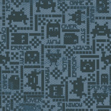 vector seamless graphical geometric robots pattern