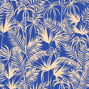 vector seamless graphical artistic topical foliage pattern