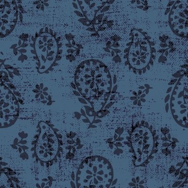 vector seamless artistic gentle paisley pattern