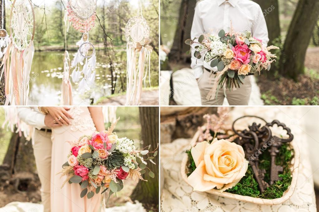ślubna Dekoracja W Stylu Boho Dream łapacze Kwiaty Zdjęcie