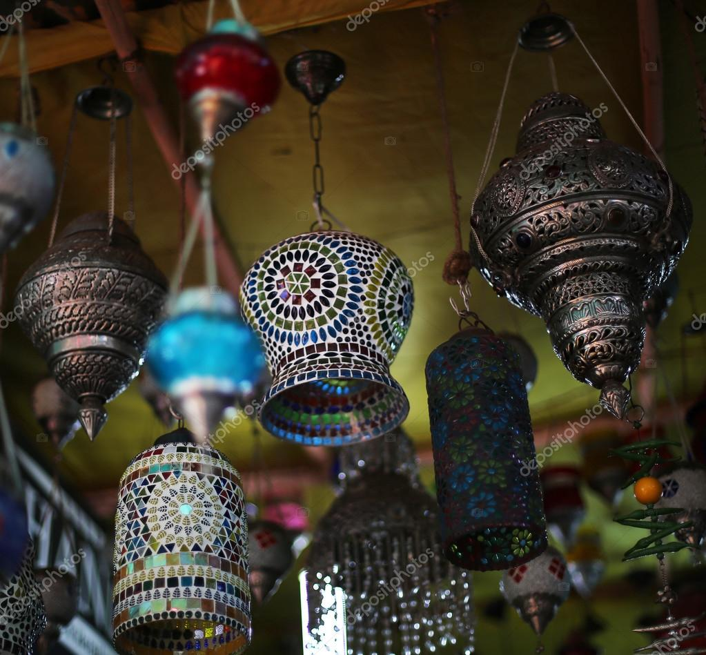 Indian Colored Lamps U2014 Stock Photo