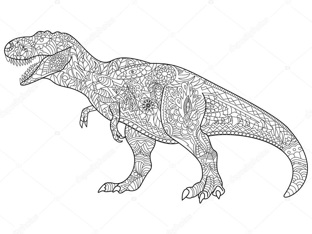 Imágenes Tiranosaurio Rex Colorear Vector De T Rex Para