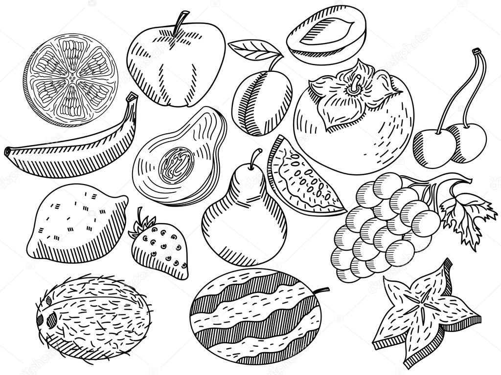 Frutta da colorare libro vettoriale per adulti Coloring book for adults philippines