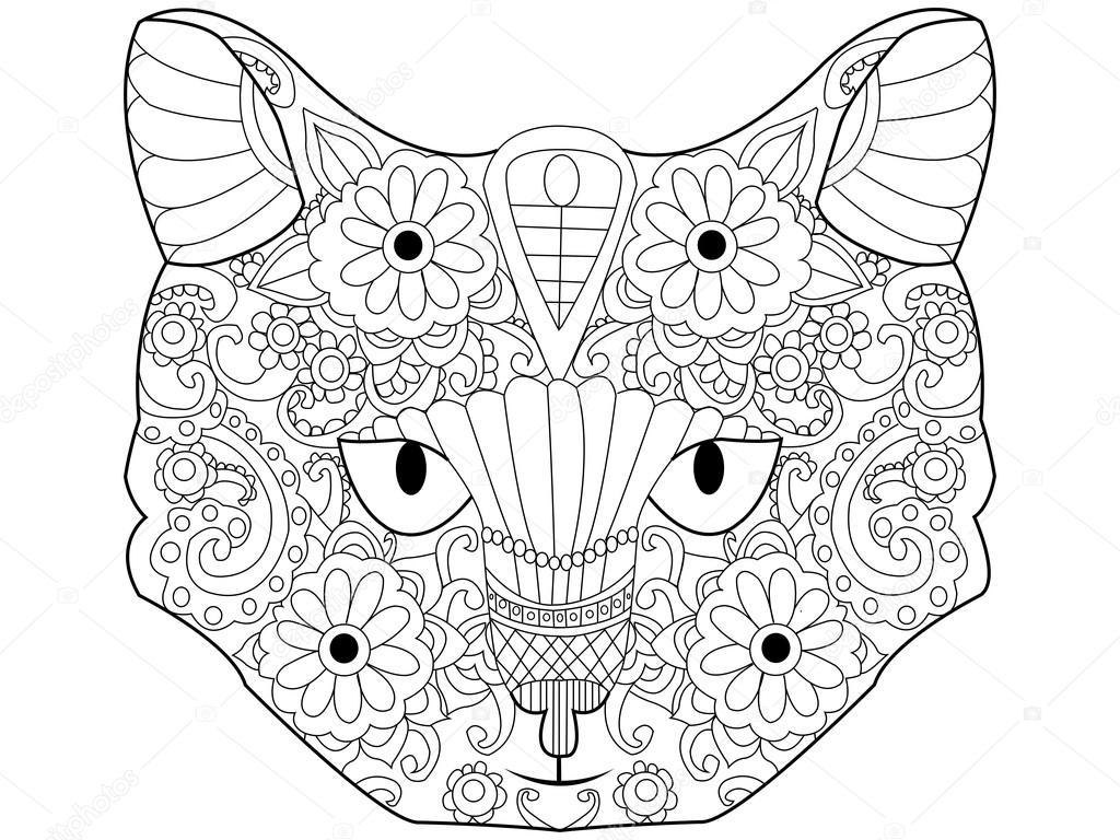 Volwassenen Y Kleurplaten Kot Kolorowanka Wektor Dla Dorosłych Grafika Wektorowa