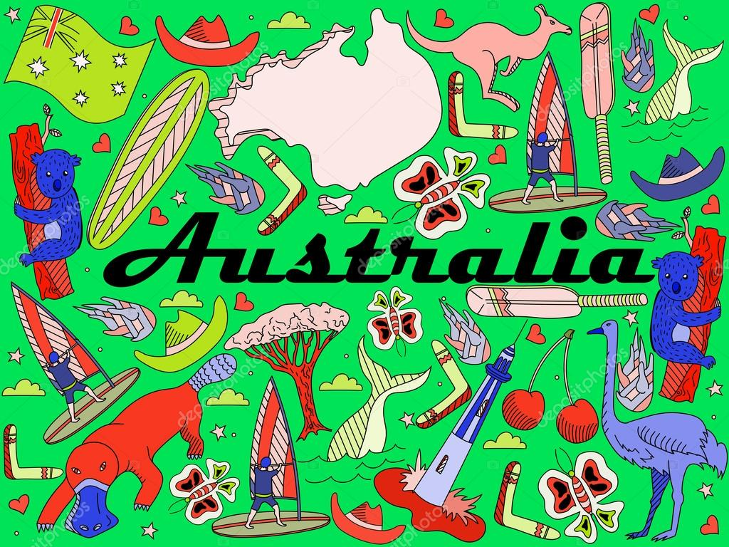 Australien-Vektor-illustration — Stockvektor © toricheks2016.gmail ...
