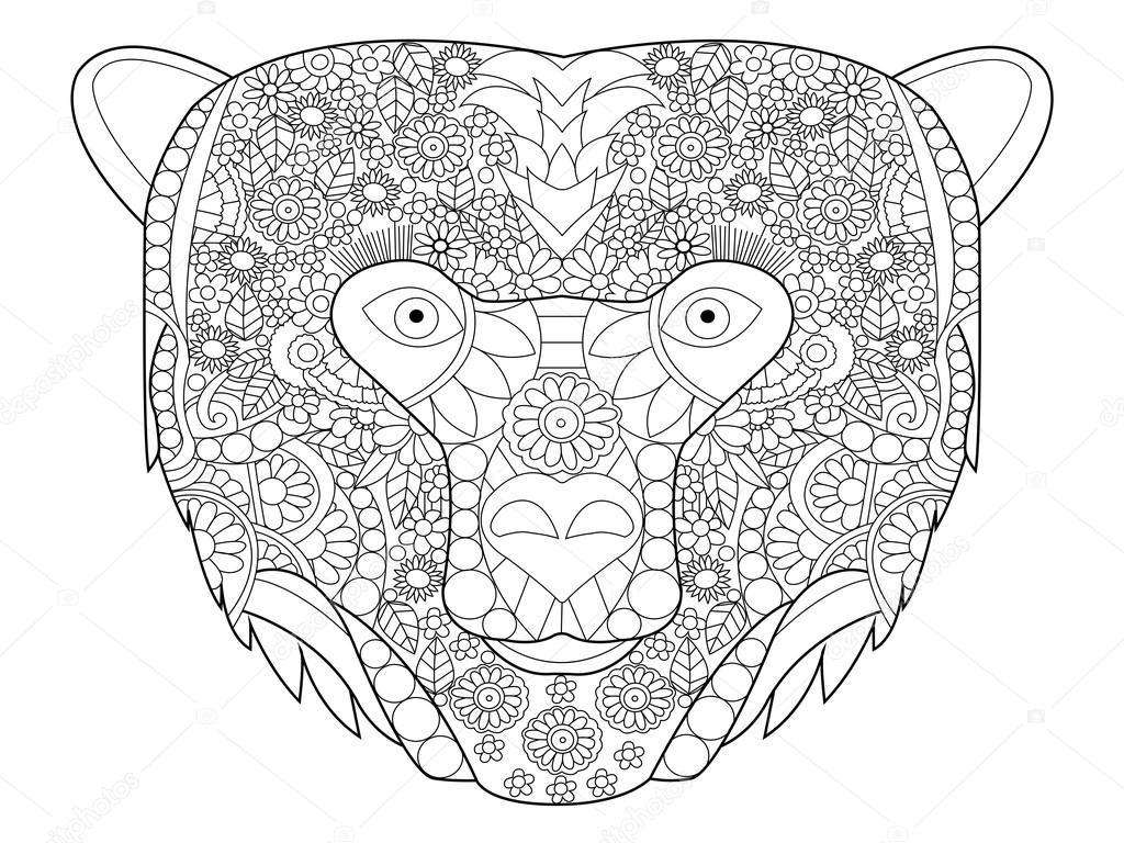 bärenkopf zeichnen  kinder ausmalbilder