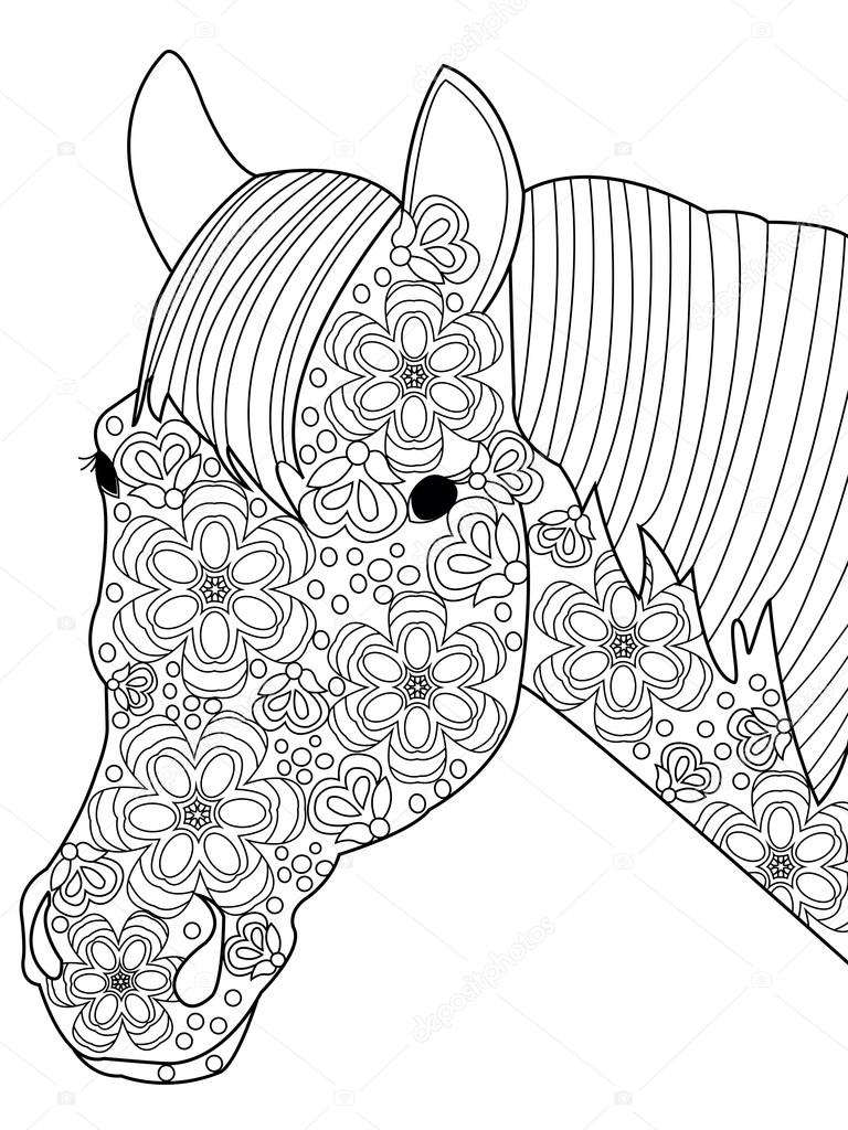 coloring vector for adults stock vektor