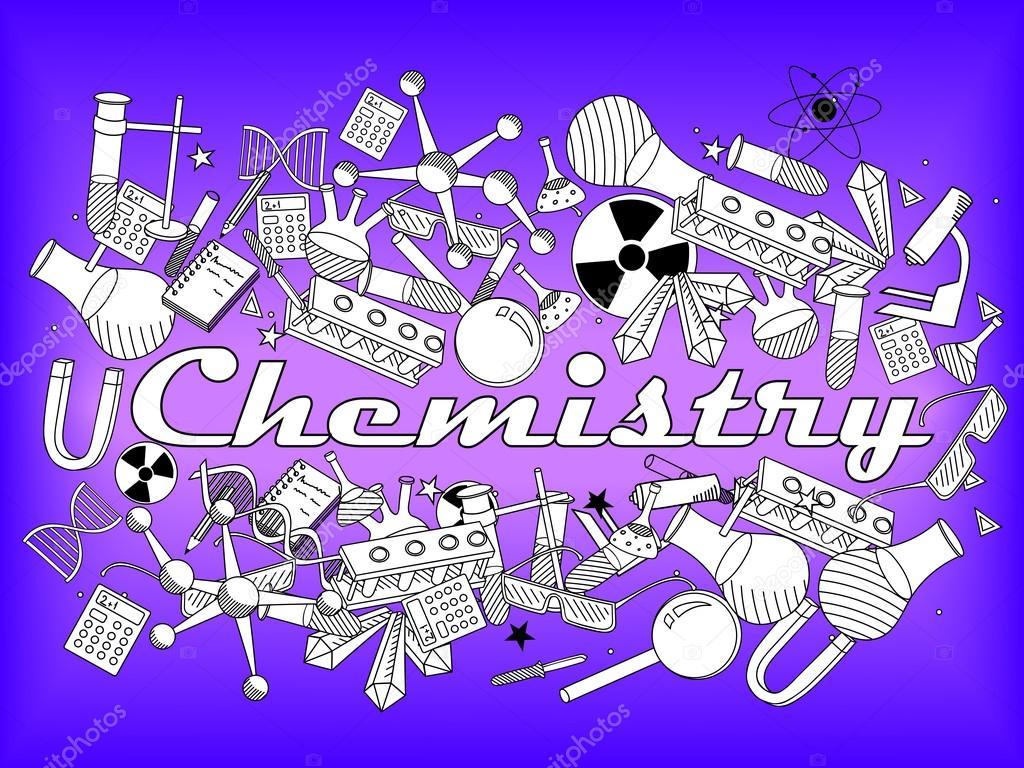 Química para colorear ilustración vectorial del libro — Vector de ...