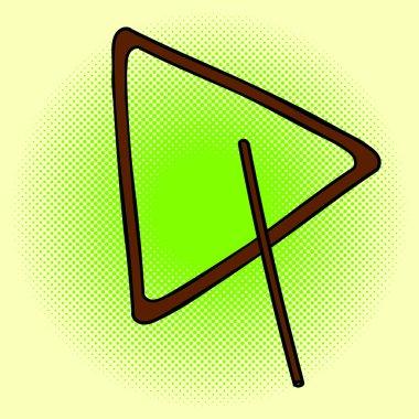 Triangle Pop art vector