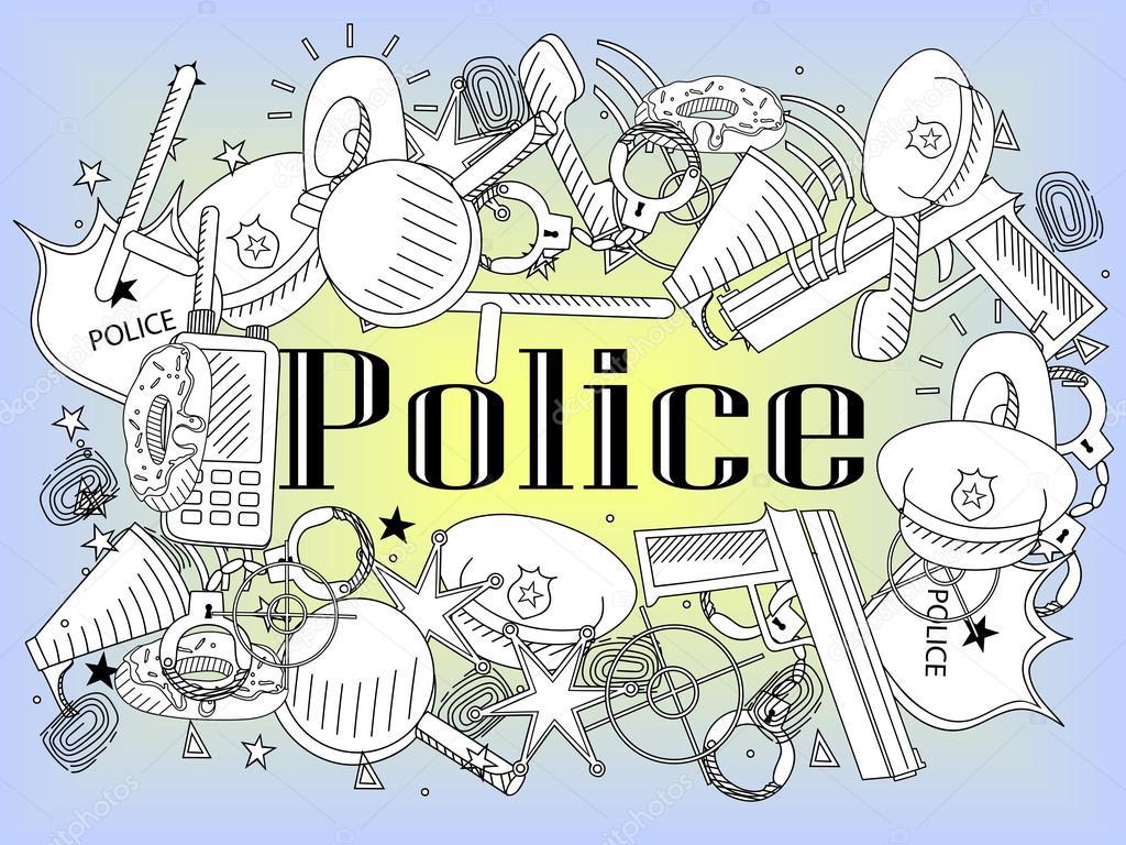 Polis Kitap Vektör Boyama Stok Vektör Toricheks2016gmailcom