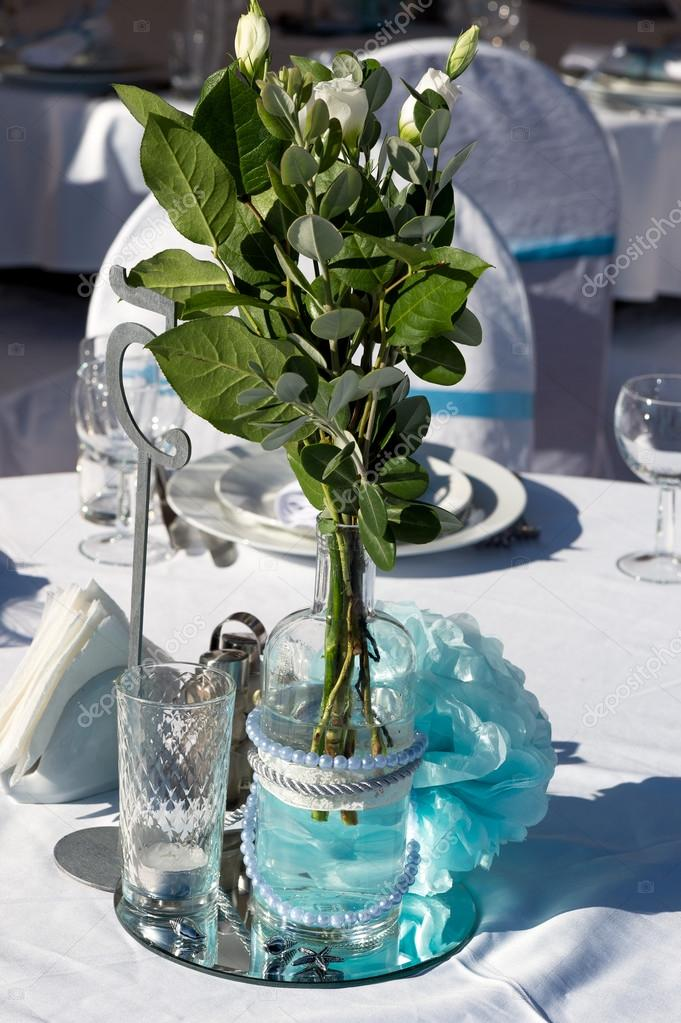 Wedding decoration in white blue in a nautical theme stock photo wedding decoration in white blue in a nautical theme fotografia de stock junglespirit Images