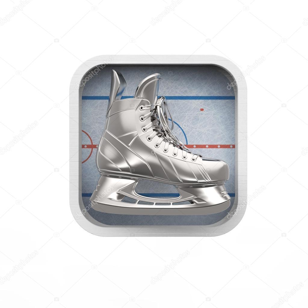 realictic brillante del patín del hielo en la pista de patinaje ...