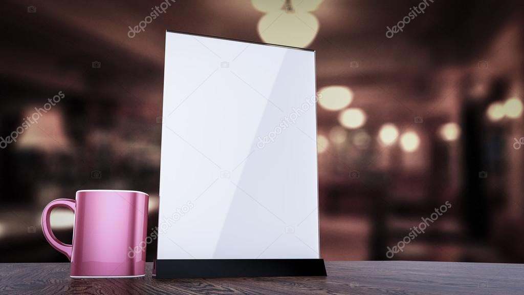 Stand For Booklets White Sheets Of Paper Acrylic Table Tent Card - Table tent stands