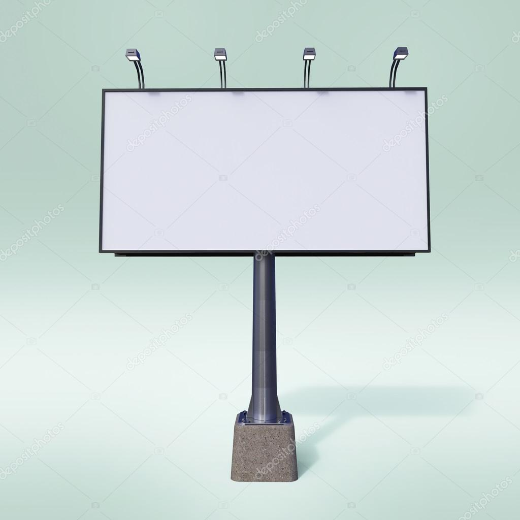 Blank white billboard template . render for your special design, isolated mockup