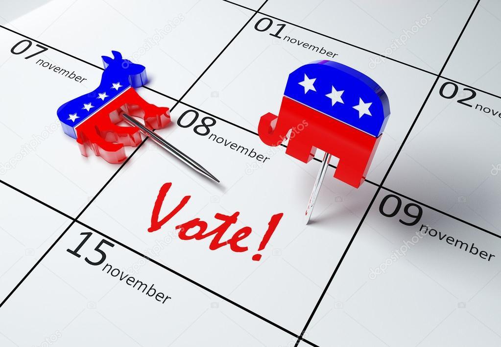Calendario Elezioni.Illustrazione 3d Di Un Calendario Che Mostra Il Giorno Delle