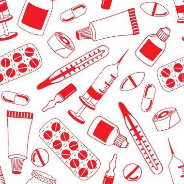 Seamless pattern of medical elements