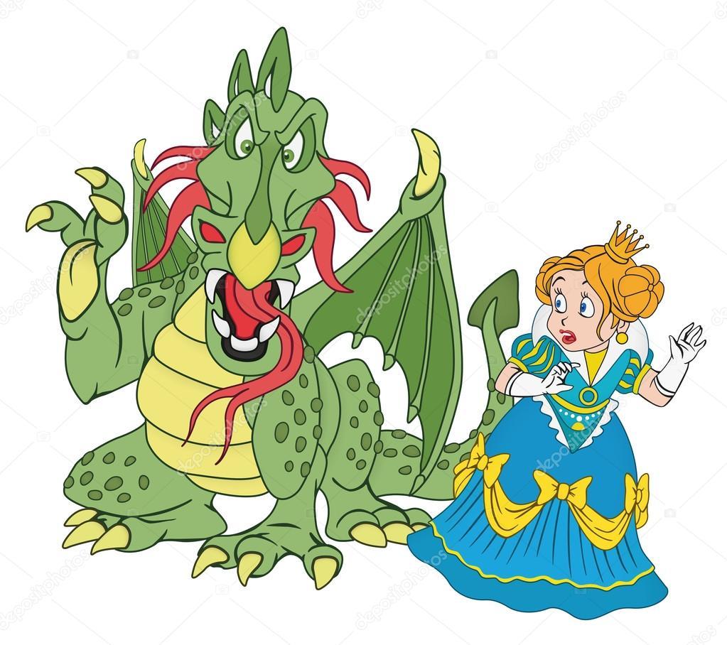 Výsledek obrázku pro princezna a drak