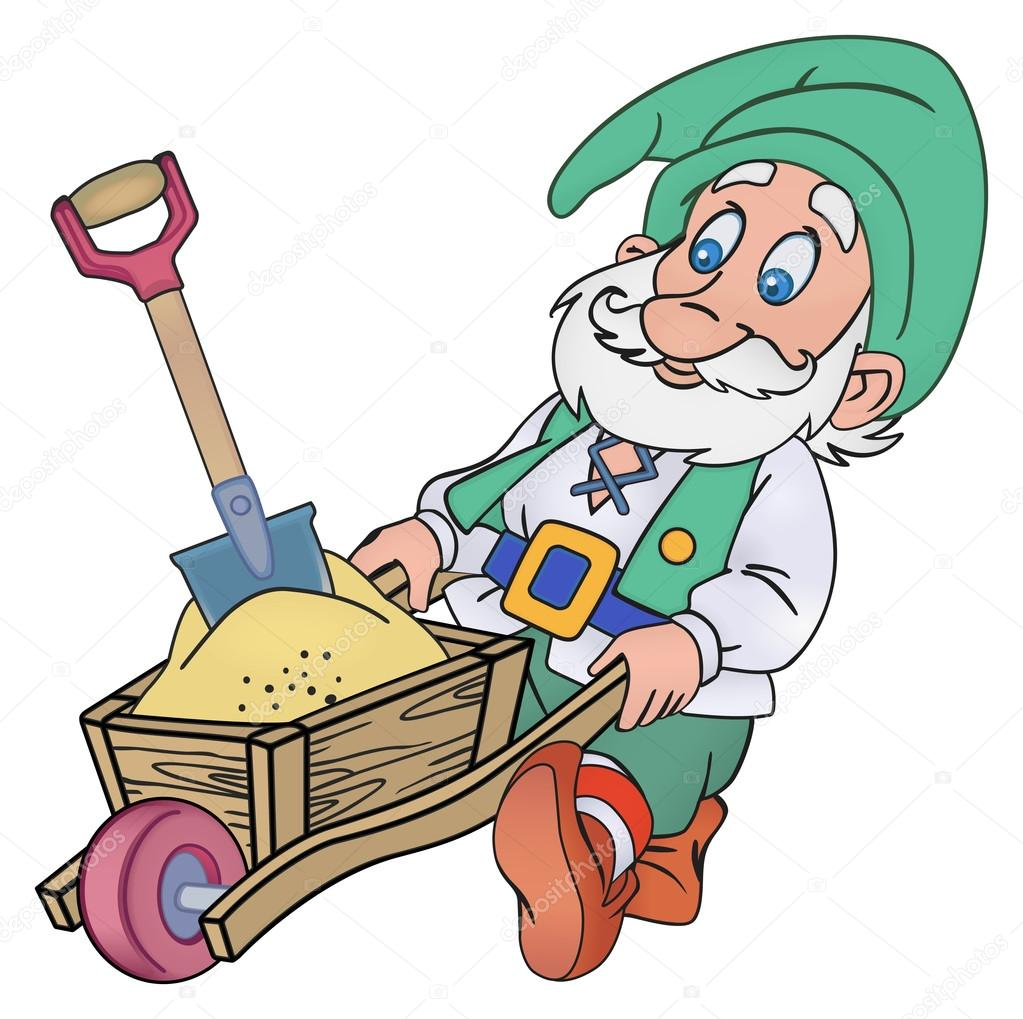 Gnome with a trolley
