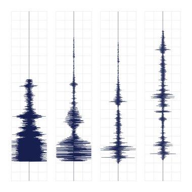 Seismogram waves print